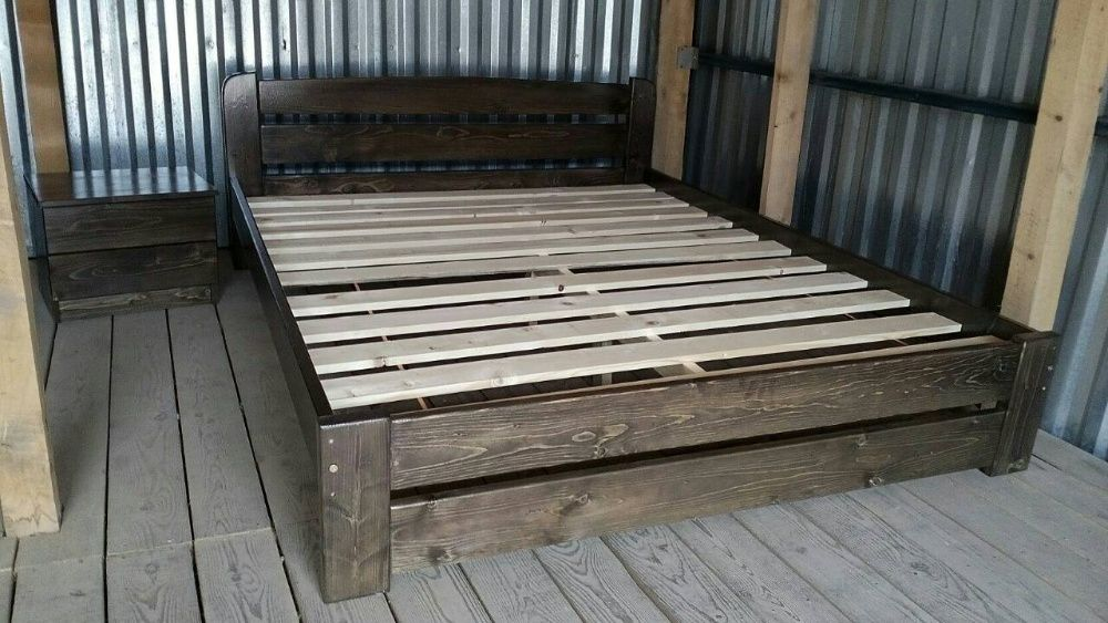 Деревянная Двуспальная Кровать 160х200 ЭКО. Усиленная Умань - изображение 1