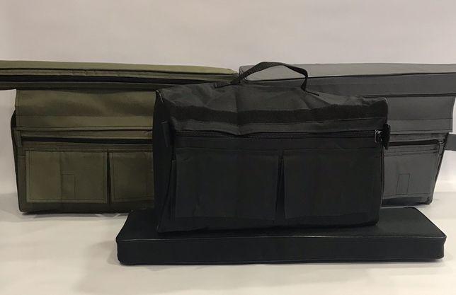 Мягкое сиденье с сумкой рундуком 650х200х50 мм от производителя