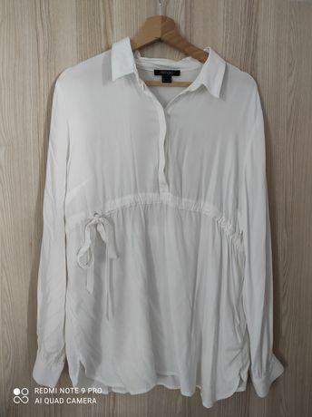 Biała bluzka ciążowa koszulowa esmara M