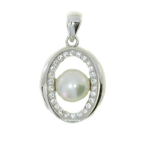 Srebrna zawieszka z perłą srebro 925