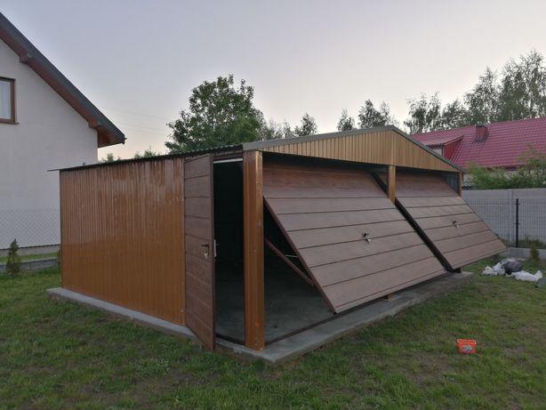 Garaż blaszany 6x5. 80 garaże Blaszane dwu stanowiskowe Producent filc
