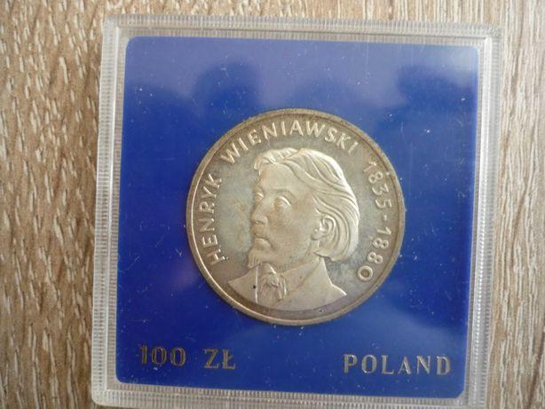 Moneta 100 zł. 1979 r. Henryk Wieniawski  srebro