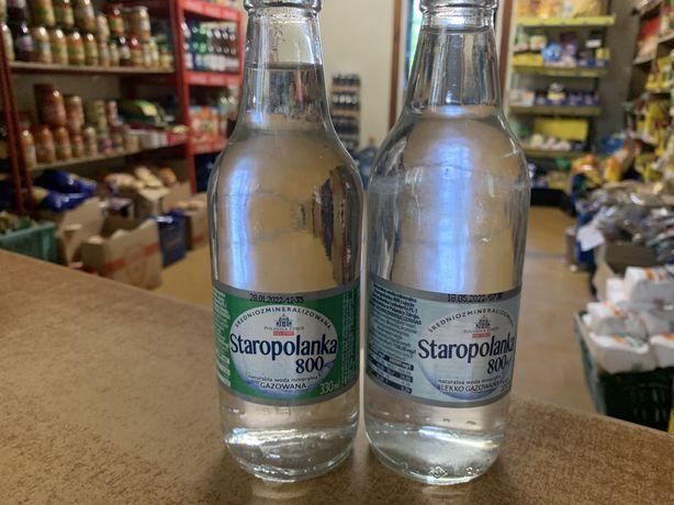 Staropolanka/Bystrzanka woda w szklanych butelkach