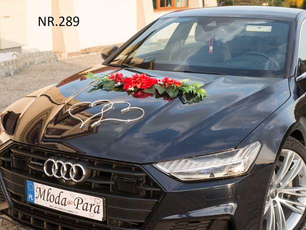 Bogata dekoracja na samochód.Styl rustykalny w kolorze.Ozdoby-stroiki