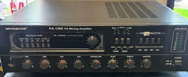 Mikser  amplituner strefowy Monacor PA-1200  plus radio RDS