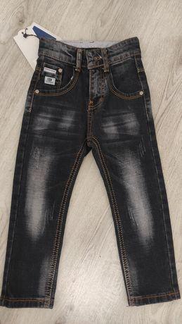 Новые джинсы мальч. с высокой посадкой р.3-4 г.