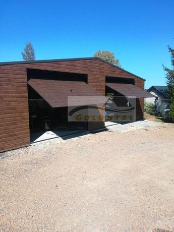 Garaż blaszany 8x6 Drewnopodobny Każdy wymiar! 6x6, 6x5, 9x6, 4x5, 7x5