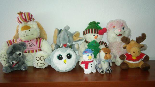 Pluszaki, maskotki zestaw 14 sztuk+30 drobnych zabawek,słodziak,nosacz