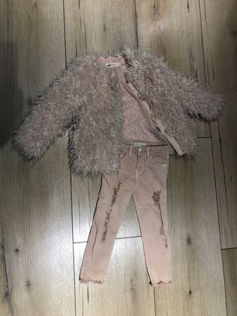 Płaszczyk futerko sweter HM 104