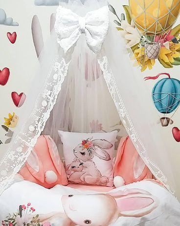 Бортики в кроватку ,балдахин