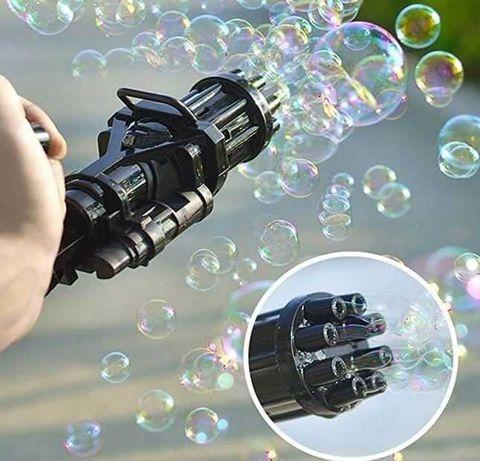 Мыльные пузыри. Пистолет автомат с мыльными пузырями пулемет автоматич