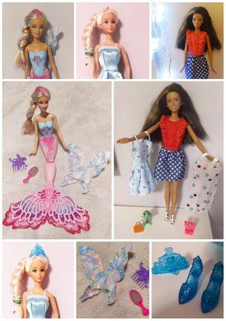Zestaw lalek Barbie Mattel wróżka syrena ELSA + dodarki