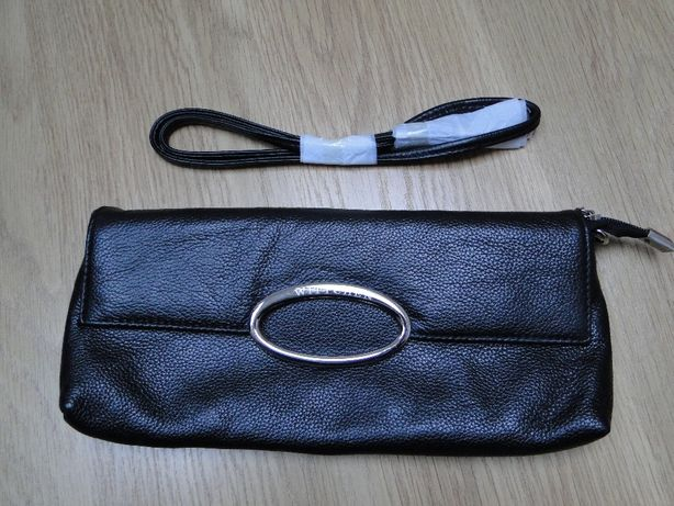 Czarna skóra nowa torebka kopertówka WITTCHEN model ochnik