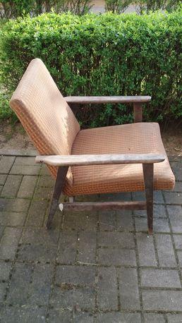 Fotel Krzesło Lisek PRL Vintage Stan Orginalny