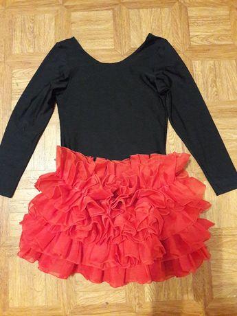 Танцы - Купальник и юбка на 8 - 11 лет