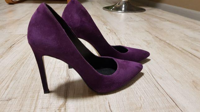 Туфли замшевые,цвет - сливовый