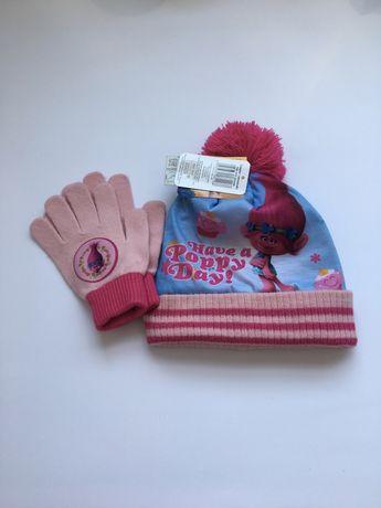 Шапка и перчатки тролли 3-4 года 98/104 George пижама Zara лосины