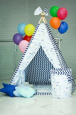 Красивые палатки для девочек и мальчиков. Детский вигвам.Шалаш+ковер