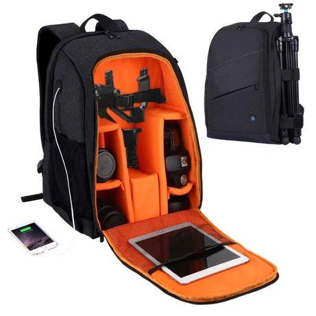 Mochila NOVA máquina fotográfica DSLR objectivas portátil tablet tripé