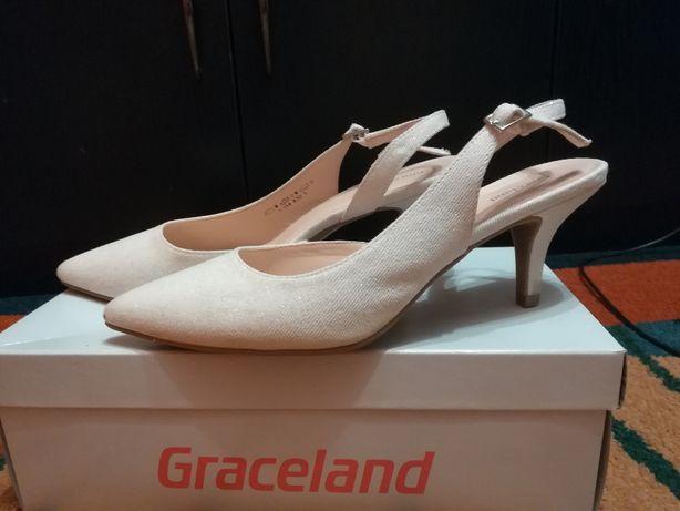 Czółenka damskie 39 ślubne / buty/ szpilki