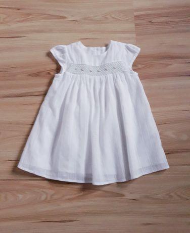 Sukienka chrzest 68/74