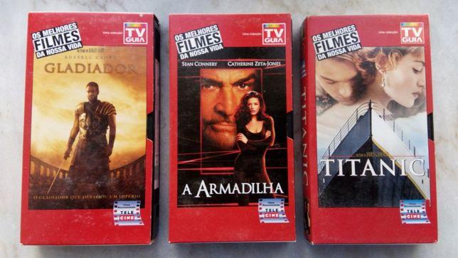 Filmes em VHS da coleção TV Guia - Os melhores filmes da nossa vida
