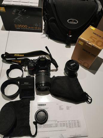 Nikon D3500 + AF-S NIKKOR 18-105 DX VR +stałka NIKKOR 50mm 1.4g +torba