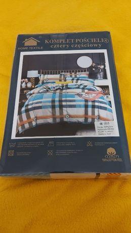 Pościel Komplet: Poszwa na kołdrę 200x220 cm Dwie poszewki na poduszk