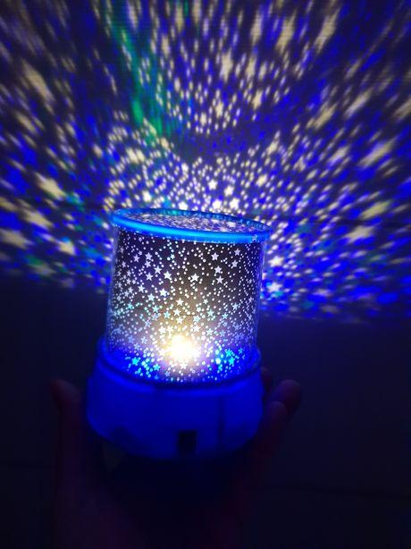 nocna lampka dla dzieci, efekt gwiaździstego nieba