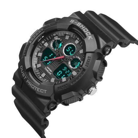 Zegarek S-SHOCK 3 kolory czarny biały czerwony - wygląd jak G piękny