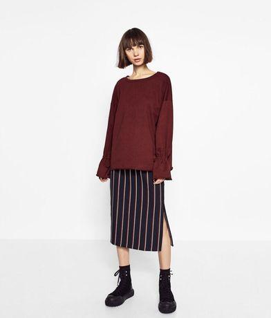 Bluza Zara oversize ideał wiązane rękawy