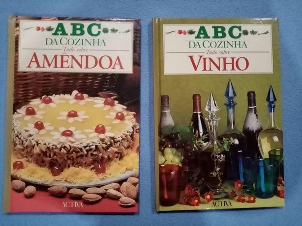 2 Livros ABC da Cozinha TUDO SOBRE Amêndoa Vinho