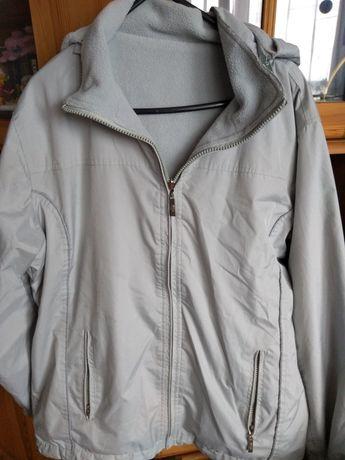 Sprzedam dwustronną kurtkę na polarze z kapturem roz M