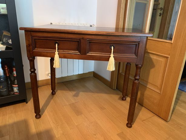 Mesa / secretária madeira restaurada
