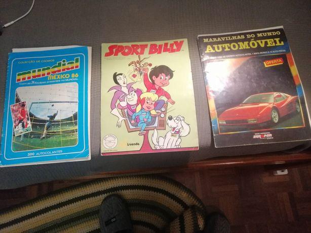 Cadernetas década de 70 e 80