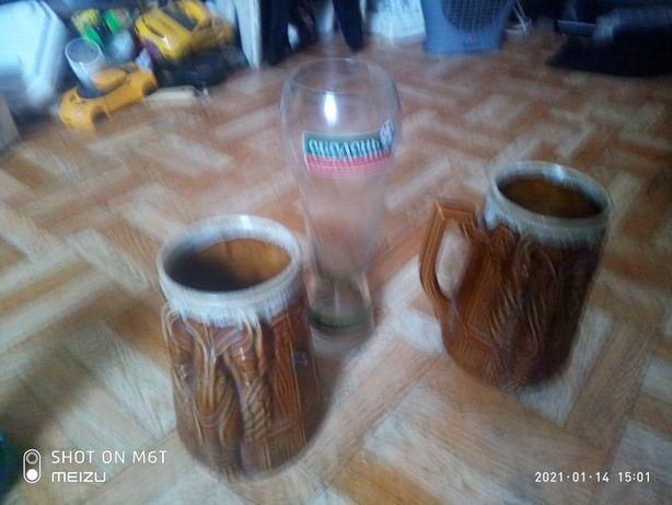 бокалы пивные .керамика