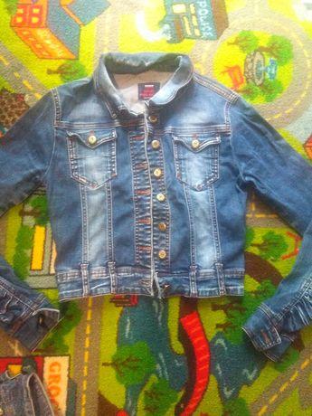 Фирменная, джинс, куртка, пиджак TOMMY, S