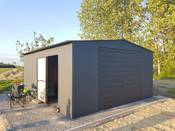 blaszak garaż na budowę schowek garaż blaszany 3x5 konstrukcja stalowa