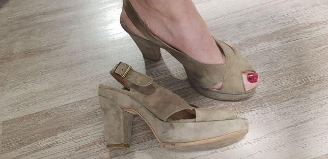 Piękne buty na obcasie, sandały rozm. 37 / 38