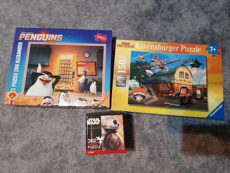 "Puzzle ,,Samoloty"", ""Star Wars"" i ""Pingwiny z Madagaskaru """