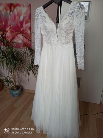 Suknia ślubna kolor śmietankowy