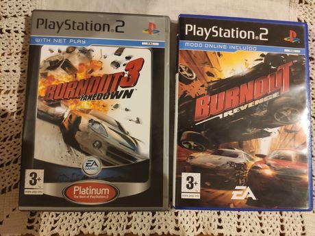 Pack Burnout 3 e Burnout Revenge - ps2 - vendo separado