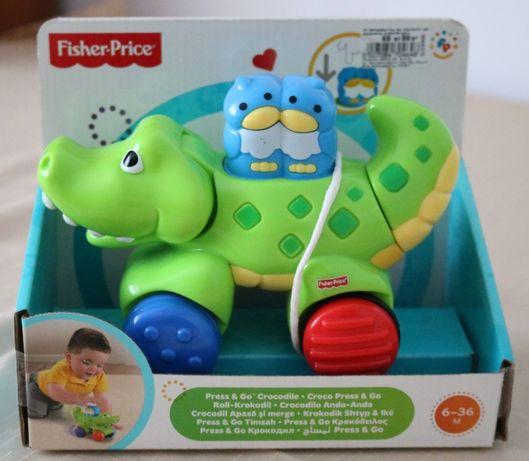 Fisher Price - krokodyl na kółkach, sensoryczny, jeżdżący