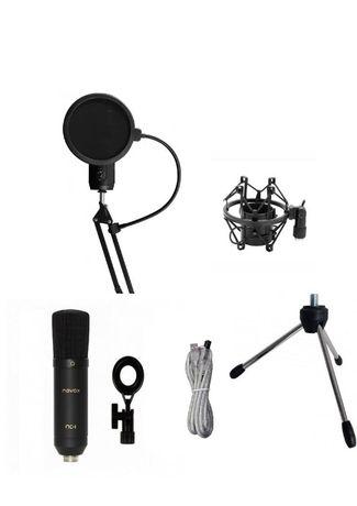 Mikrofon pojemnościowy Novox Black NC-1 USB ZESTAW