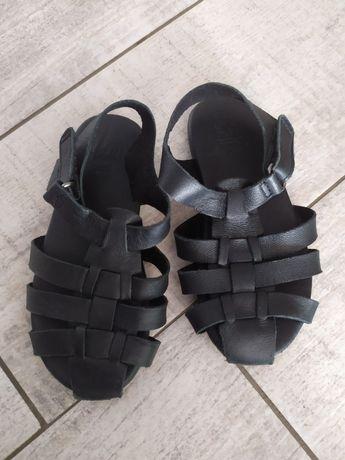 Zara sandałki skórzane 23