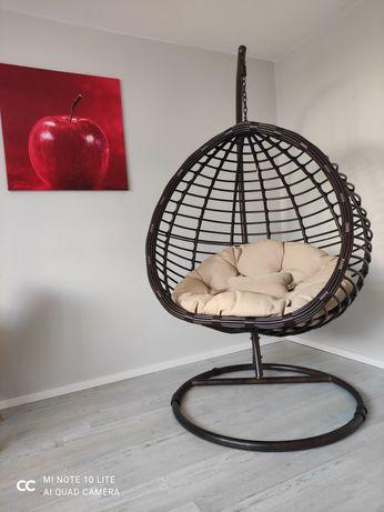 Huśtawka ogrodowa kokon fotel wiszący relax