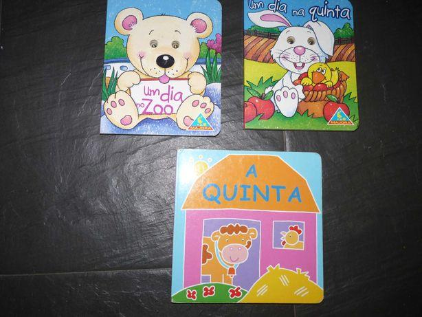 3 livros infantis Coleção Olhinhos (um dia na quinta , um dia no zoo)