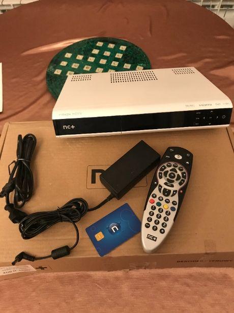 Dekoder NC+ nBox 5800s z pilotem, zasilaczem i instrukcją