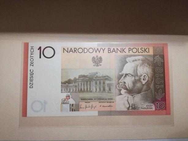 Banknot kolekcjonerski 10zł odzyskanie niepodległości
