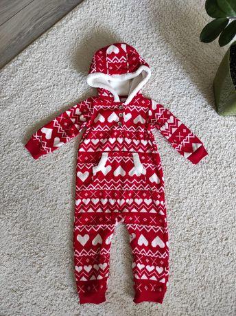 Ромпер флісовий чоловічок піжама новорічна новий год Carter's 18 м